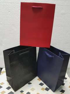 (XS) Paper Carrier Bag, Rope Handled  ↪ Metallic Laminated Color 🛍🛍  💱 $0.80 Each Piece