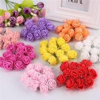 12pcs Artificial Foam flowers