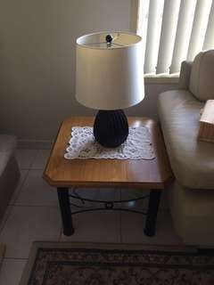 2 lamps table, buffer, coffee table in good condition