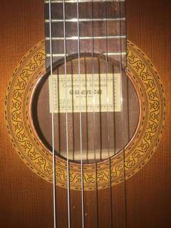 Classical guitar by Cuenca made in Spain