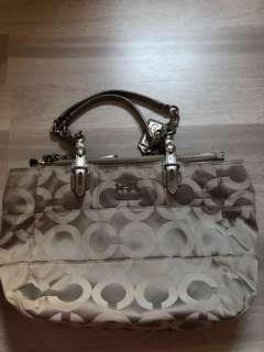 coach bag silver