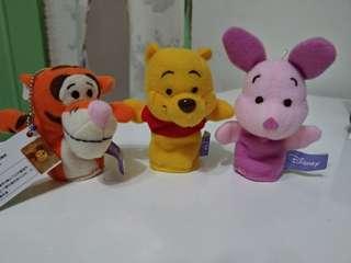 🚚 迪士尼 正版 雷標 維尼 小熊維尼 小豬 跳跳虎 手指娃娃 手偶