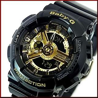 CASIO BABY-G BA-110-1A BLACK GOLD