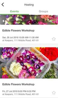 Edible Flower Workshop