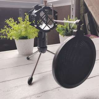 Bluetooth Microphone Mic Stand
