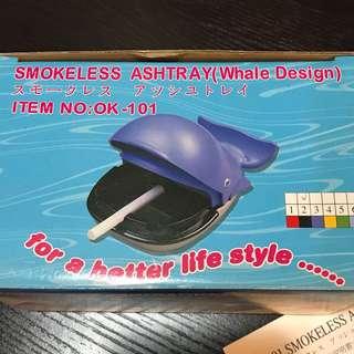 煙灰缸(黑色鯨魚造型)smokeless ashtray