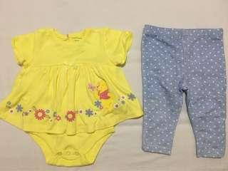 Disney Winnie the Pooh Onesie Dress and Leggings
