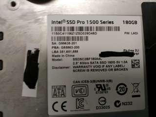 Intel  Pro 1500 Series 180GB SSD