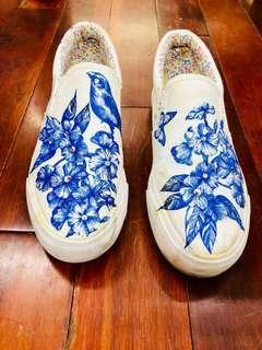 青花瓷/藍鳥/懶人鞋/帆布鞋