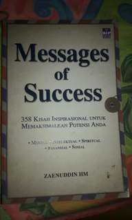 "Buku Psikologi/Inspirasi ""Messages of Success"""