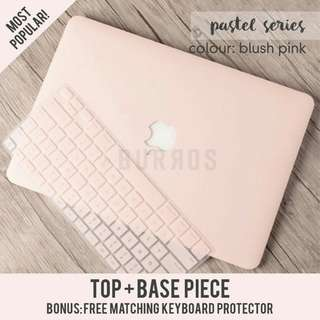 📣INSTOCKS📣 Pastel Blush Pink Macbook Apple Laptop Hard Shell Case Cover Protector available for all models