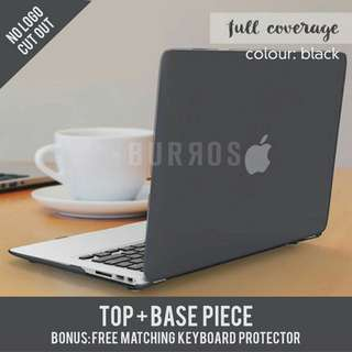 📣INSTOCKS📣 Black Matte Full Coverage Macbook Apple Laptop Hard Shell Case Cover available for all models