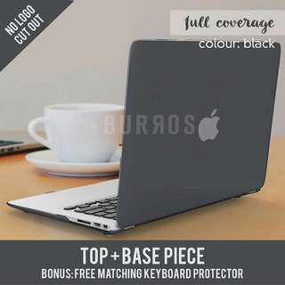 📣INSTOCKS📣 Black Matte Full Coverage Macbook Apple Laptop Hard Shell Case Cover available for all models