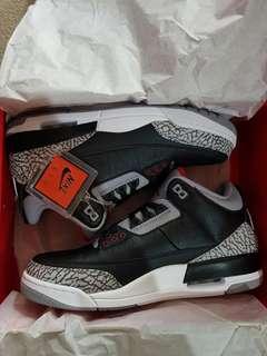 Nike Air Jordan 3 Retro OG Black Cement sz 11.5
