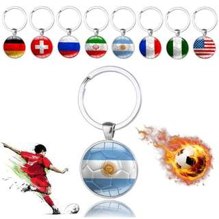 2018 Russia World Cup Football Souvenir Fans National Flag Soccer Keychain Gift