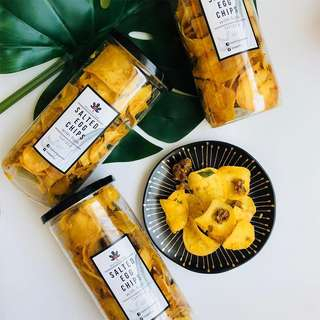 Salted Egg Chips with Figs