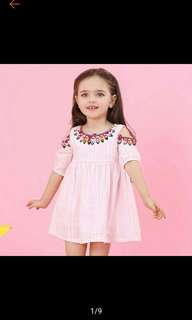 Girls Dress Summer Children Dress Half Sleeve Clothes