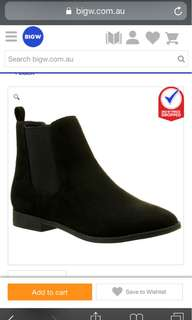 B Collection Women's Microsuede Chelsea Boot - Black
