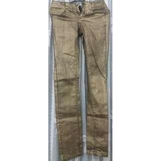 Mango gold jeans