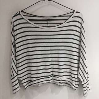 NavyBlue and White Striped Longsleeve