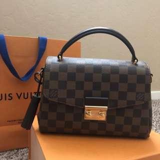 Authentic Louis Vuitton Croisette Bag Damier Ebene