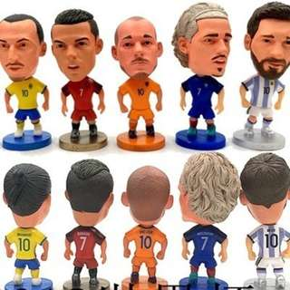 🚚 6.5 x 5cm 2018 World Cup Soccer Star Toys Mini Figurine Model Football Dolls Fans Equipment Soccer