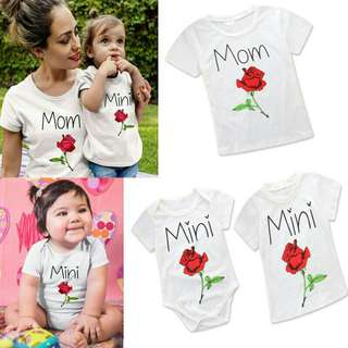 *FREE DELIVERY to WM only / Pre Order 12-14 days* Mother & daughter tee set each as shown design/color.   Free delivery is applied for this item.