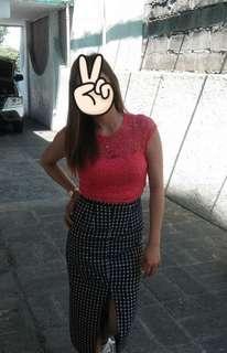 Chicabooti Top and Cotton High Waist skirt