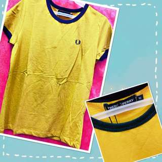 Fred Perry Logo Shirt (mustard)