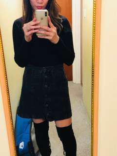 Topshop size10 denim skirt