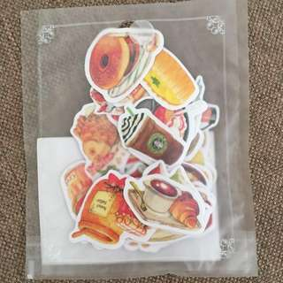 Journal stickers - food and drinks