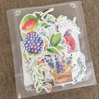 Floral stickers, journal stickers