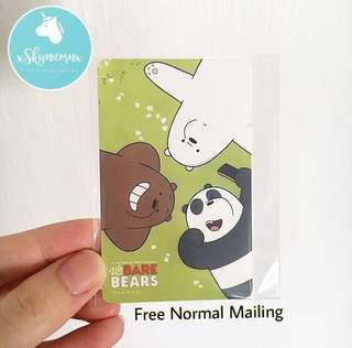 BNIP Limited Edition We Bare Bears Ez-Link Card