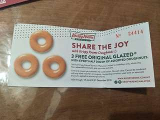 FREE 3 original glazed