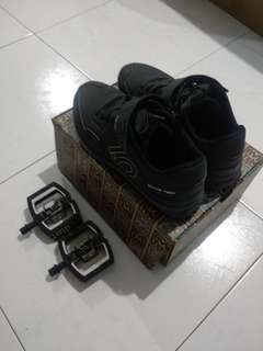 Fiveten kestrel lace mtb clipless shoe and crankbrothers pedal