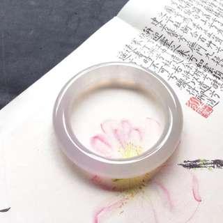 高冰起光粉紫羅蘭翡翠手鐲