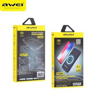 Awei P58K 12000mAh Wireless Charging power bank