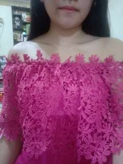Sabrina pink flower top