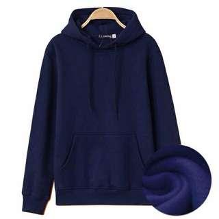 Plain Hoodie Jacket Unisex
