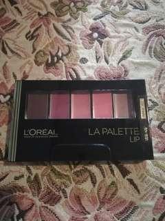 Lip, lipcolor, lipstick, palette, loreal