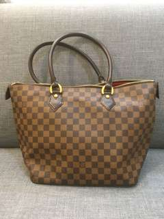 🚚 LOUIS VUITTON Damier Ebene Saleya MM 肩背包 托特包