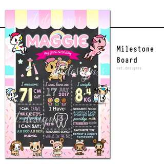 BIRTHDAY MILESTONE CHART FOAM BOARD