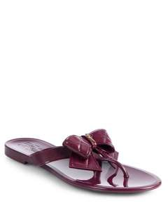 🚚 二手近全新Ferragamo氣質深紫色蝴蝶結拖鞋