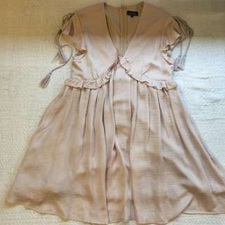 ZALORA Pale Pink Babydoll Dress