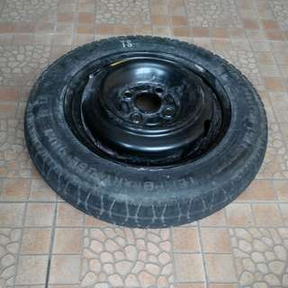 Spare Rim with Tire Tyre Tayar