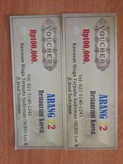 New Voucher Resto Korea Nominal 200rb