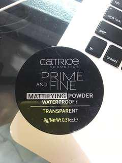 [FREE ONGKIR] CATRICE PRIME AND FINE MATTIFYING POWDER