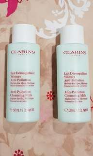 Clarins Anti -Pollution Cleansing Milk Alpinr Herbs , Moringa 50 ml