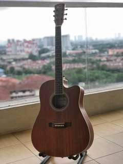 Brand new acoustic guitar. Buy 1 free 1