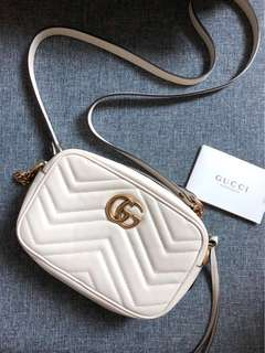 Gucci GG Marmont Mini Quilted Camera Bag